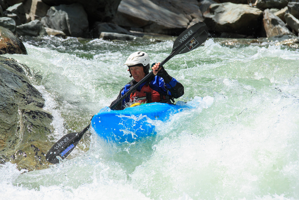 Kayaker in Bogus Thunder Rapid